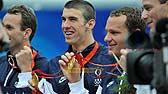 美国破男4x100米混合泳接力记录夺金