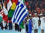 北京奥运会闭幕式各代表团旗帜入场