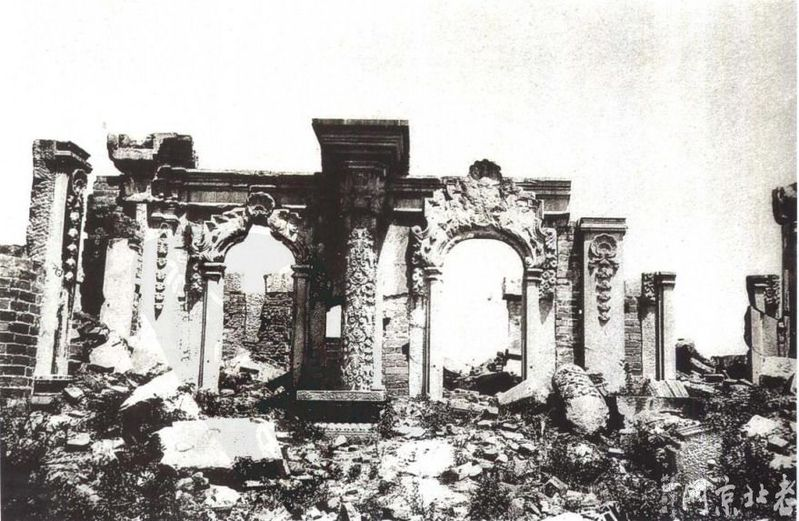 主题 回顾历史 英法联军火烧圆明园之耻图片
