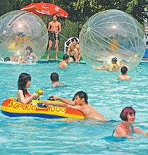 三环路内的水上乐园:青年湖水上世界
