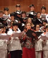 中美两校学生合唱团,